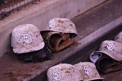 Padres kapelusze w schronie Zdjęcia Royalty Free