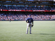 Padres Ryan Ludwick stands in right field Stock Photo