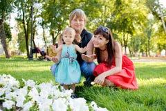 Padres y bebé fotografía de archivo libre de regalías