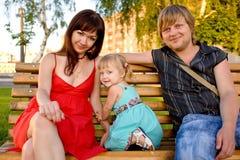 Padres y bebé foto de archivo libre de regalías