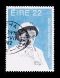 Padriac O ` Conaire 1882-1928, Verjaardagen van Culturele Cijfers serie, circa 1982 Stock Fotografie