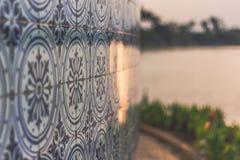 Padroes modela telhas Pampulha de Azulejos fotografia de stock