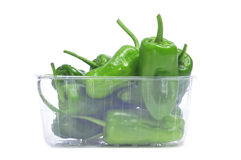 Padron peppers typical of Spain Stock Photos