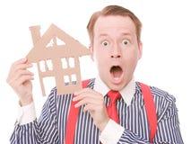Padrone di casa colpito di affari immagini stock libere da diritti