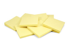 Pads. A pile of stickty pads against a white background stock photography