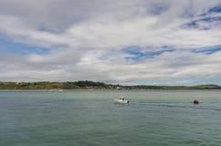 从Padstow的看法在出海口 库存照片