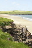 Padstow beach. Scenic view of Padstow beach and cliffs, Cornwall, United Kingdom Royalty Free Stock Photography