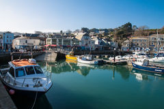 Padstow city center and harbour Royalty Free Stock Images