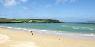 Padstow coastline. In Cornwall, England, United Kingdom royalty free stock photos