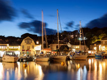 Padstow Cornwall. Padstow Harbour at Dusk, Cornwall England UK Royalty Free Stock Photos