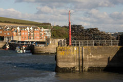 Padstow, Cornwall. The harbour at Padstow harbour, Cornwall royalty free stock photography