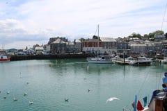 Padstow-Hafen und M?ndung Cornwall lizenzfreie stockbilder