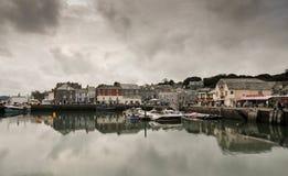 Padstow hamn, norr Cornwall, England Royaltyfri Fotografi