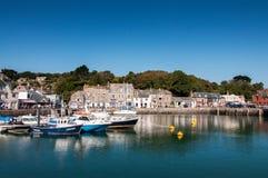 Padstow hamn, norr Cornwall, England Arkivfoto