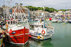 Padstow Harbour on a Cloudy Day Royalty Free Stock Photos