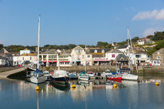 Padstow harbour North Cornwall England UK beautiful late summer sun and calm fine weather drew visitors to the coast Royalty Free Stock Photo