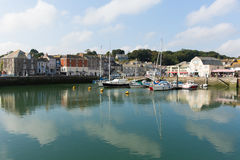 Padstow harbour North Cornwall England UK beautiful late summer sun and calm fine weather drew visitors to the coast Stock Image