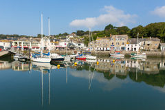 Padstow North Cornwall England UK beautiful late summer sun and boats in the harbour Royalty Free Stock Image