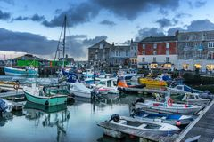 Padstow in north Cornwall royalty free stock photos