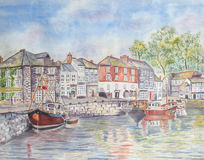 Padstow Village Harbour Stock Image