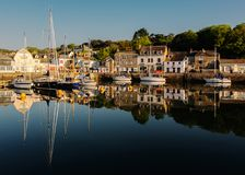Padstowhaven in Cornwall stock foto's
