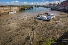 Padstowhaven in Padstow, Cornwall, het UK wordt genomen dat royalty-vrije stock foto's