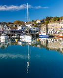 Padstown Harbour Cornwall. Reflections in Padstown Harbour Cornwall England UK Europe Royalty Free Stock Image