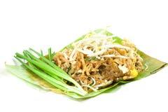 Padthai是泰国食物 库存照片