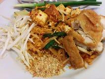Padthai цыпленка; Тайская еда Стоковые Изображения