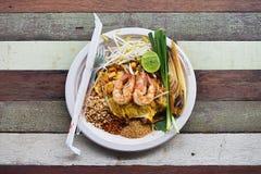 Padthai ny räka (thailändsk mat) Royaltyfri Foto