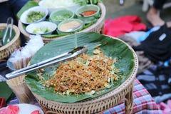 Padthai tailandês do alimento fotografia de stock royalty free