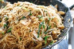 Padthai. Thai food - Padthai hot in pan Stock Photography