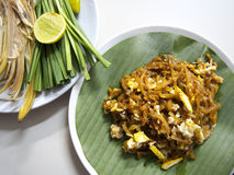 Padthai, Thai traditional food and vegetables Royalty Free Stock Photo