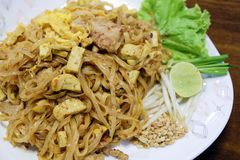 Padthai - Traditional Thai Food in the dish Stock Photos