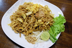 Padthai - Traditional Thai Food in the dish Stock Photography