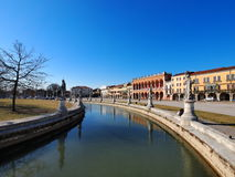 Padua. Famous big square in Padua, Italy, photo was taken in February Royalty Free Stock Image