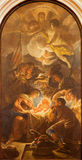 Padua -  The Adoration of the Shepherds by Guido Cirello (1633 - 1709) in church chiesa di Santa Maria del Torresino. Stock Photography