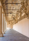 Padua - The atrium and the external corridor of Palazzo del Bo Royalty Free Stock Photo