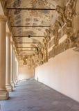 Padua - The atrium and the external corridor of Palazzo del Bo Royalty Free Stock Photo