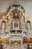 Padua - Baroque side altar of Virgin Mary Altare dell'Addolorata from 17. and 18. cent. of  in church Santa Maria dei Servi. Stock Photo