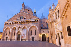 Padua - Basilica del Santo or Basilica of Saint Anthony of Padova in evening. Royalty Free Stock Photo