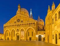 Padua - Basilika del Santo eller basilika av St Anthony av Padova och oratoriet San Girgio Arkivbilder