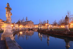 Padua bij nacht Royalty-vrije Stock Foto's