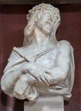 Padua - The bust  Ecce - Christ in the bond by Filippo Parodi (1630 - 1702)  in church San Francesco del Grande. Stock Images
