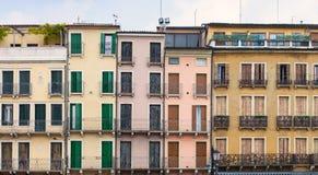 Padua, casas Foto de archivo