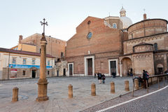 Padua Cathedral with the Baptistery on the right Royalty Free Stock Image