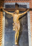 Padua - Crucifixion statue in church Chiesa di San Gaetano and the chapel of the Crucifixion by Agostino Vannini from 17th cent. Royalty Free Stock Images