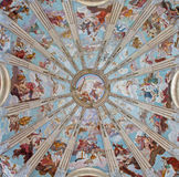 Padua - The cupola in the church Chiesa di San Gaetano with the frescos The Order of Heaven by Guy Louis II Vernansal Royalty Free Stock Photos