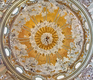Padua - The cupola of The Reliquiary chapel in Basilica del Santo or Basilica of Saint Anthony of Padova. Stock Images