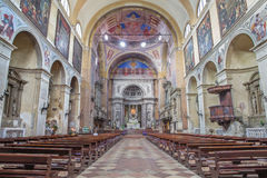 Padua - das Kirchenschiff der Kirche Basilica Del Carmine Lizenzfreies Stockbild